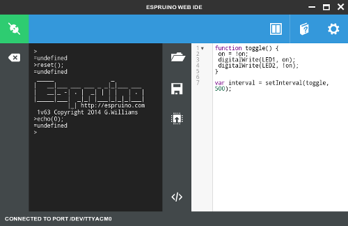 Espruino Chrome Web IDE