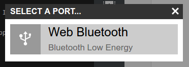 Web Bluetooth setting